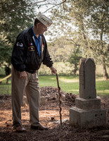 Dale Burchett Commander of the 101st Chapter of Disabled American Vetrans,honors confederate Veteran
